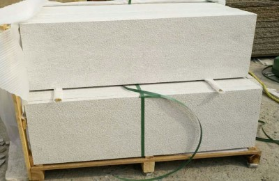 Pearl white granite outdoor steps